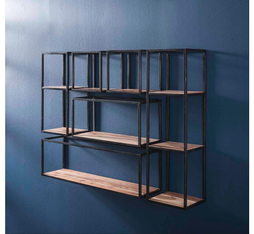 Wandregal Ryon Akazienholz/Metall 65 cm