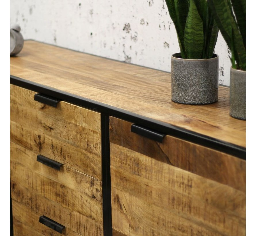 Sideboard Ciara Mangoholz Metall 180cm