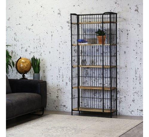 Bücherregal Esther Metall/ Mangoholz 180x80 cm