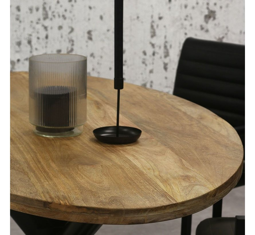 Esstisch oval Tygo Mangoholz 160x90 cm