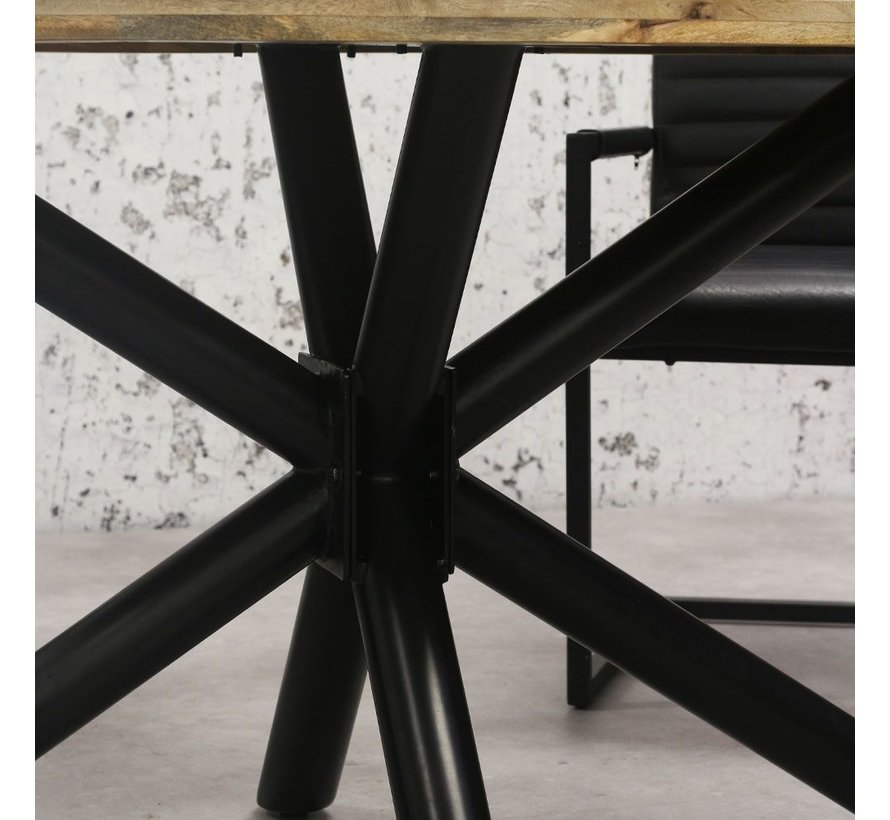 Esstisch oval Tygo Mangoholz 240x110 cm