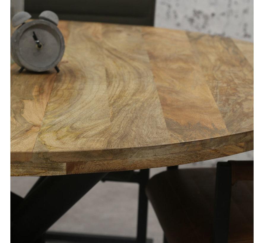 Esszimmertisch Memphis rund Mangoholz 150 cm