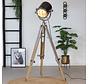 Stehlampe Chicago Raw Nickel Industriedesign