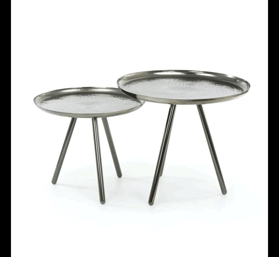 Beistelltisch Set Bay Metall rund (2er Set)