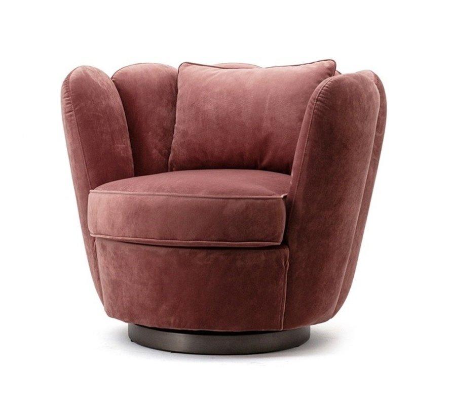 Samt Sessel Maria drehbar rosa
