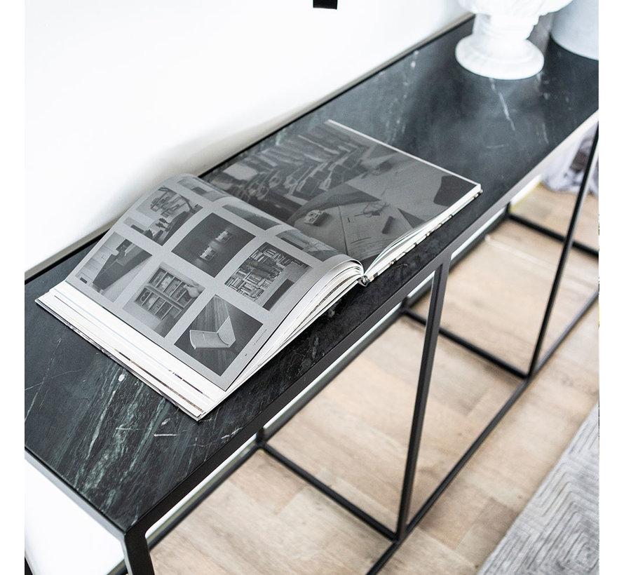 Halbtisch Sky Marmor schwarz 180 x 40 cm