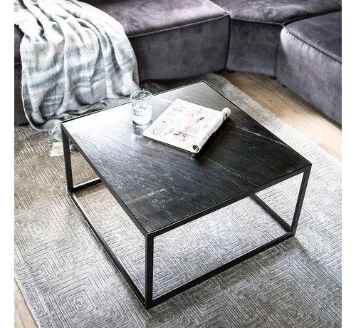 Eleonora Couchtisch Sky Marmor schwarz 70 x 70 cm