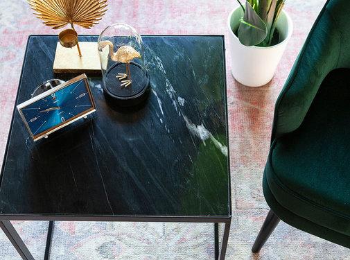 Eleonora Couchtisch Sky Marmor schwarz 50 x 50 cm