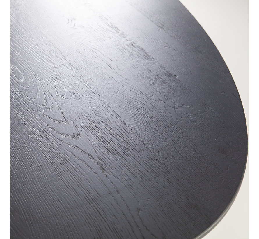 Esszimmertisch Maja oval Eichenholz schwarz 300 x 120 cm