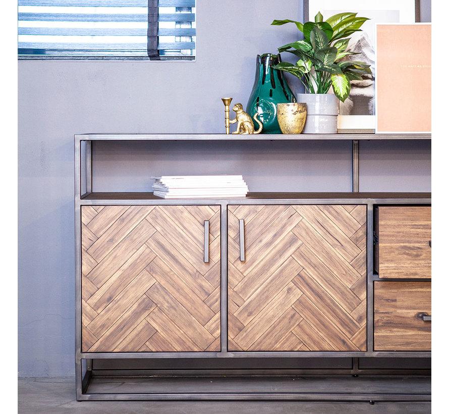 Sideboard Hudson Akazienholz braun 200 cm
