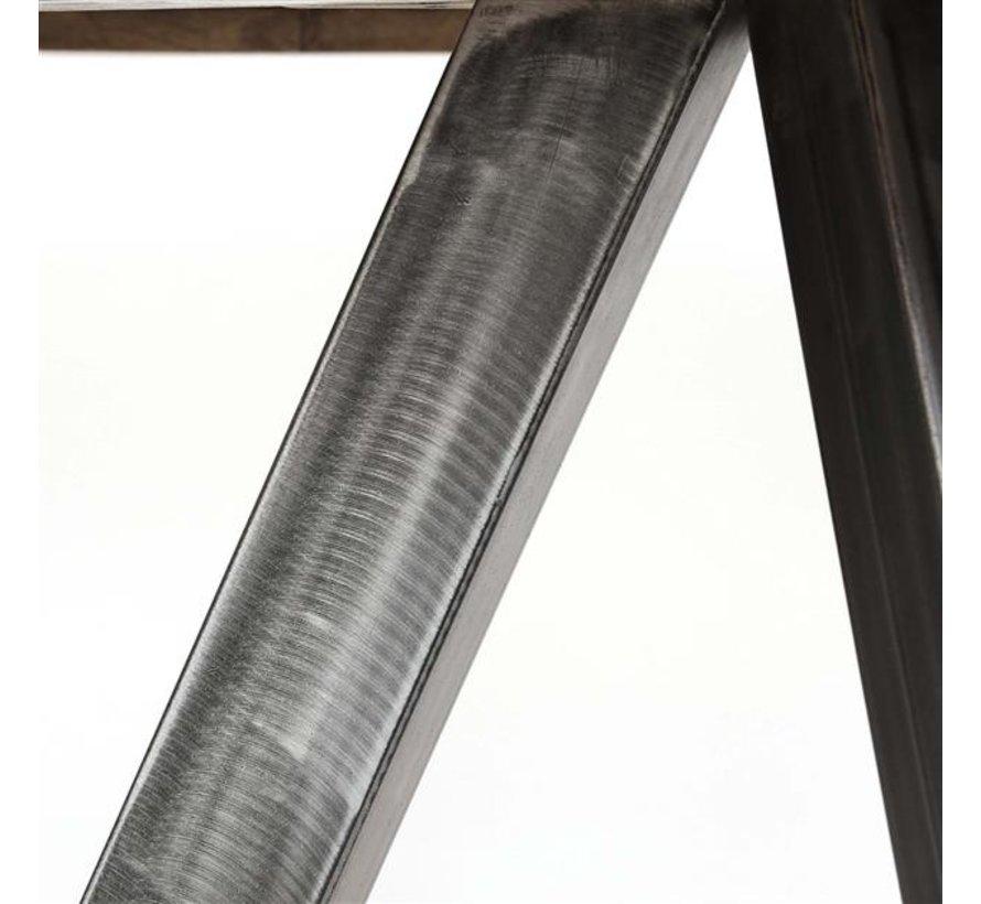 Runder Esstisch Bowie Mangoholz Ø120 grau