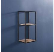 Wandregal Ryon Akazienholz/Metall 65 cm hoch