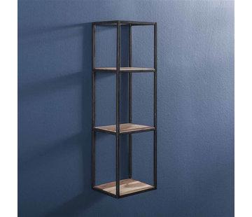 Wandregal Ryon Akazienholz/Metall  100 cm hoch