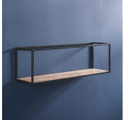 Wandregal Ryon Akazienholz/Metall 100 cm