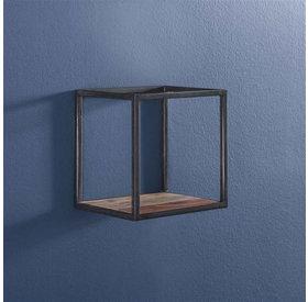 Wandregal Ryon Akazienholz/Metall 30 cm