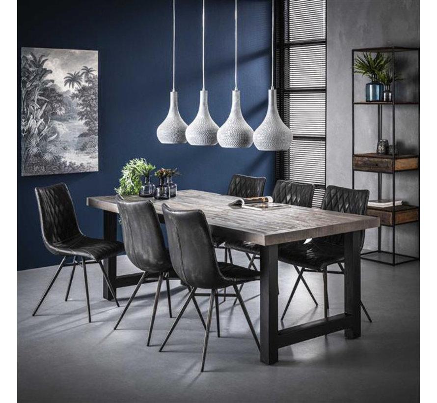 Esszimmertisch Kane Akazienholz Greywash 165 x 85 cm