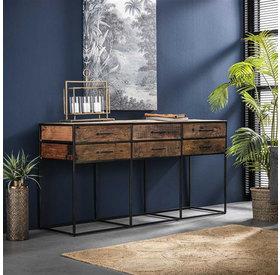 Sideboard Floor Hartholz 6 Schubladen 160 cm
