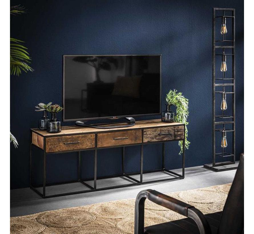 TV- Lowboard Floor Hartholz 3 Schubladen 135 cm