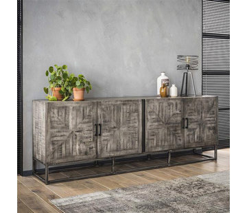 Sideboard Figo grau Mangoholz 220 x 80 cm