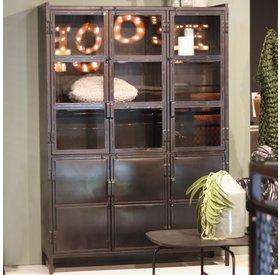 Eleonora Vitrine Nick Industrial Design Metall 6 Türen