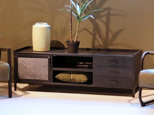 Eleonora TV-Lowboard Nick Industrial Design Metall 160 cm