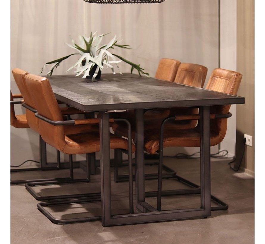 Esszimmertisch Hudson Akazienholz schwarz 200 x 100 cm
