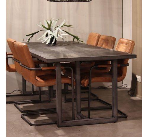Eleonora Esszimmertisch Hudson Akazienholz schwarz 160 x 90 cm