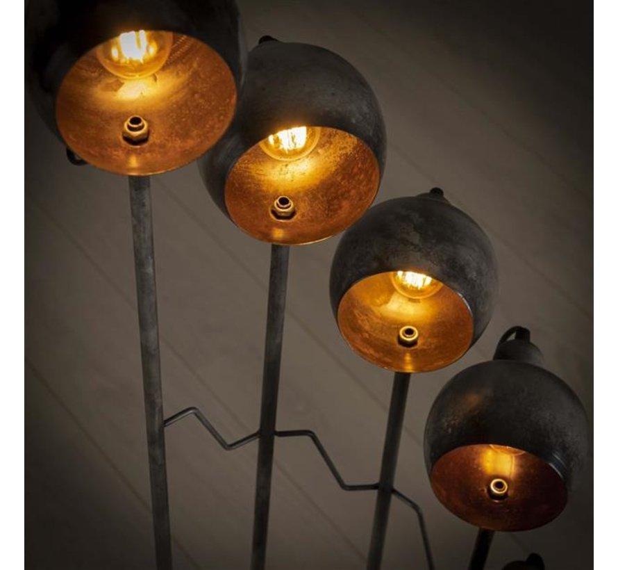 Stehlampe Spiro 8-flammig vintage