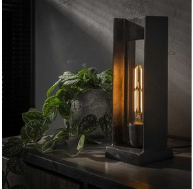 Tischlampe Dries 1-flammig schwarz