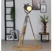 Stehlampe Brooklyn Raw Nickel Industriedesign