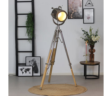 Bronx71 Stehlampe Brooklyn Raw Nickel Industriedesign