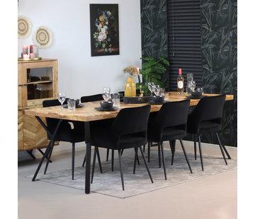 Bronx71 Esstisch Hunter Akazie Fischgrät-Design 230 x 100 cm