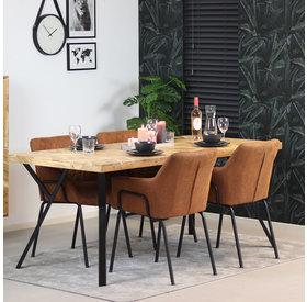 Bronx71 Esstisch Hunter Akazie Fischgrät-Design 180 x 90 cm