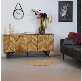 Bronx71 Sideboard Hunter Akazie Fischgrät-Design  160 cm