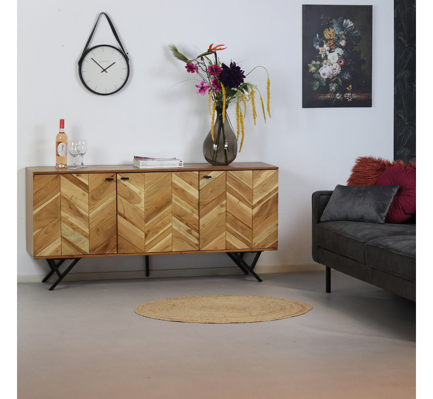 Sideboard Hunter Akazie Fischgrät-Design  160 cm