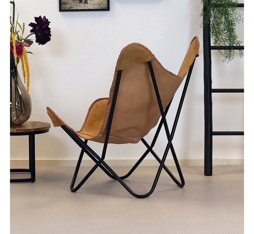 Butterfly Chair Wildleder Livin camel
