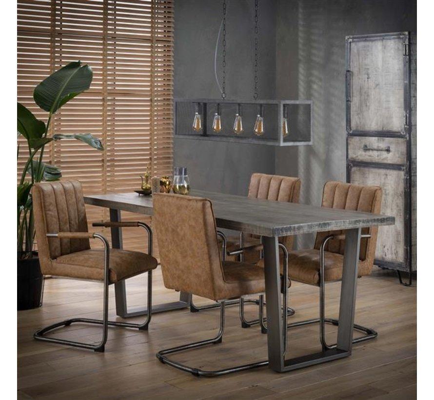 Esszimmertisch Annabelle Mangoholz grau 180 x 90 cm