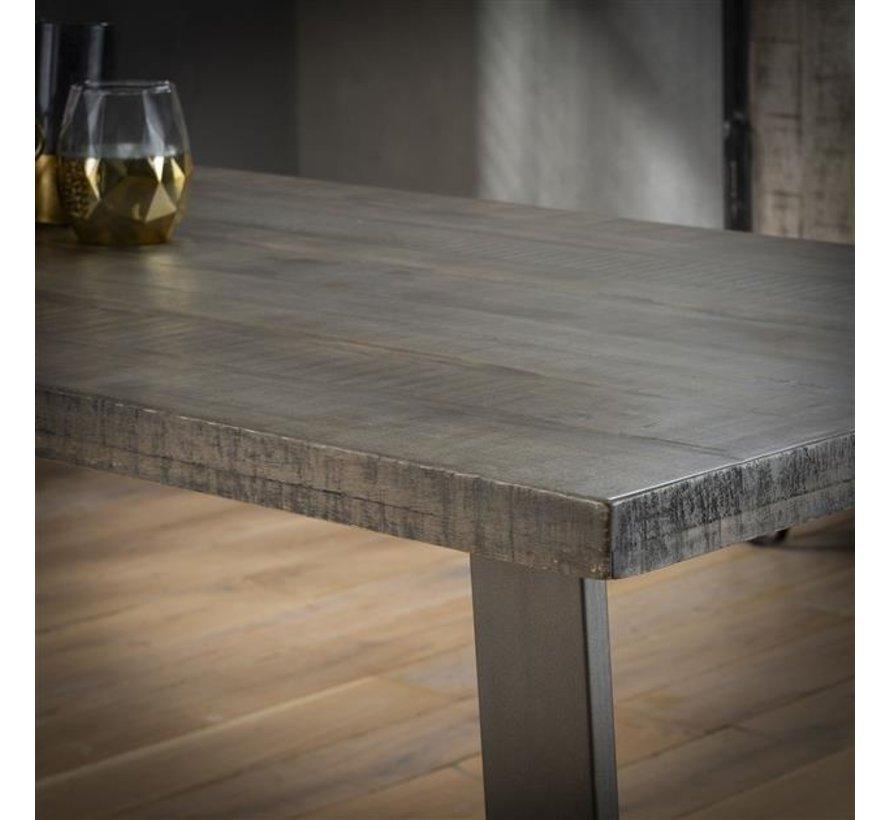 Esszimmertisch Annabelle Mangoholz grau 230 x 95 cm