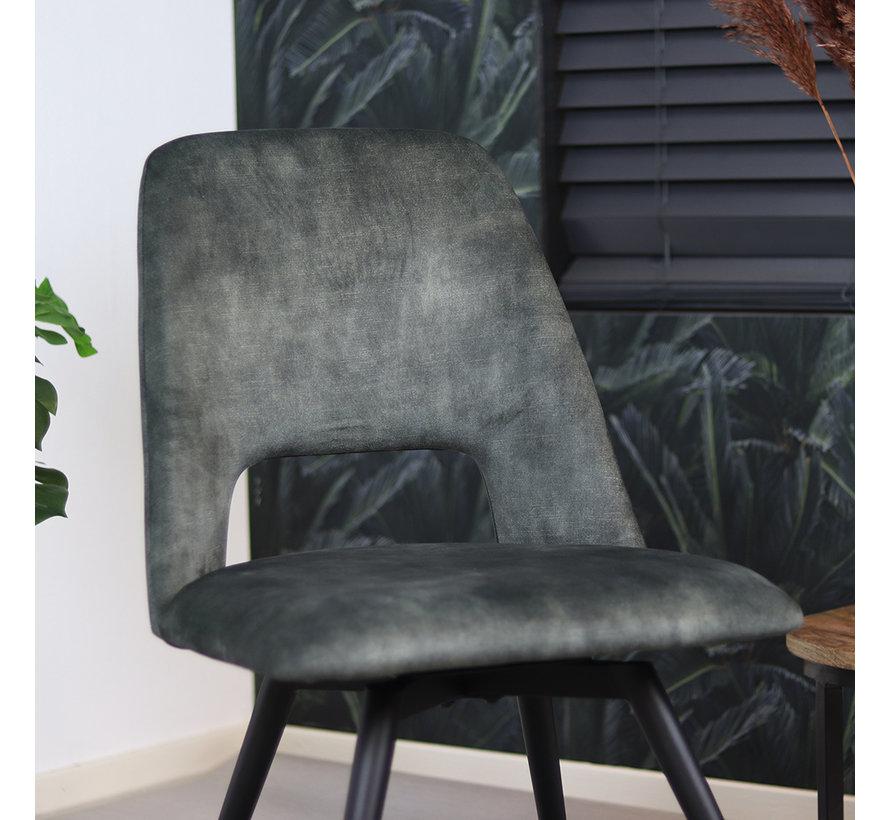 Samt Esszimmerstuhl Yara modern Olivgrün