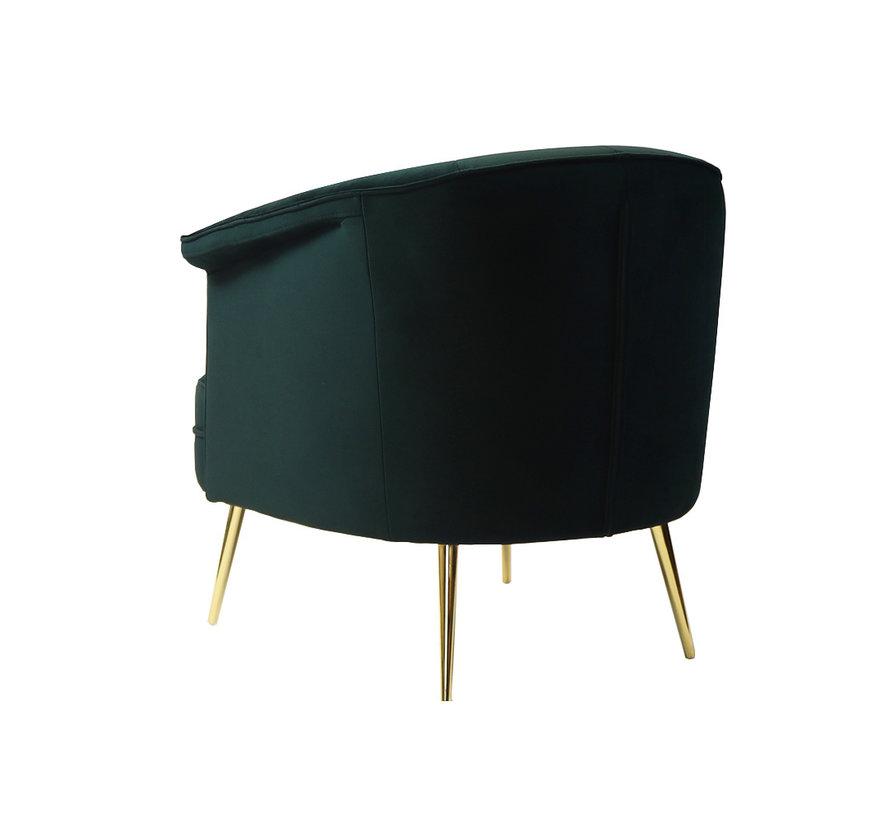 Samt Sessel Amy modern grün