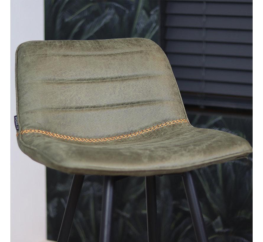 Barhocker Leder Jackson olivgrün 73 cm