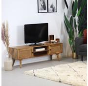 Bronx71 TV Lowboard Roto Mangoholz 145 cm