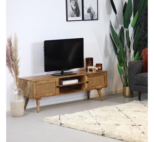 Bronx71 TV-Lowboard Roto Mangoholz 145 cm