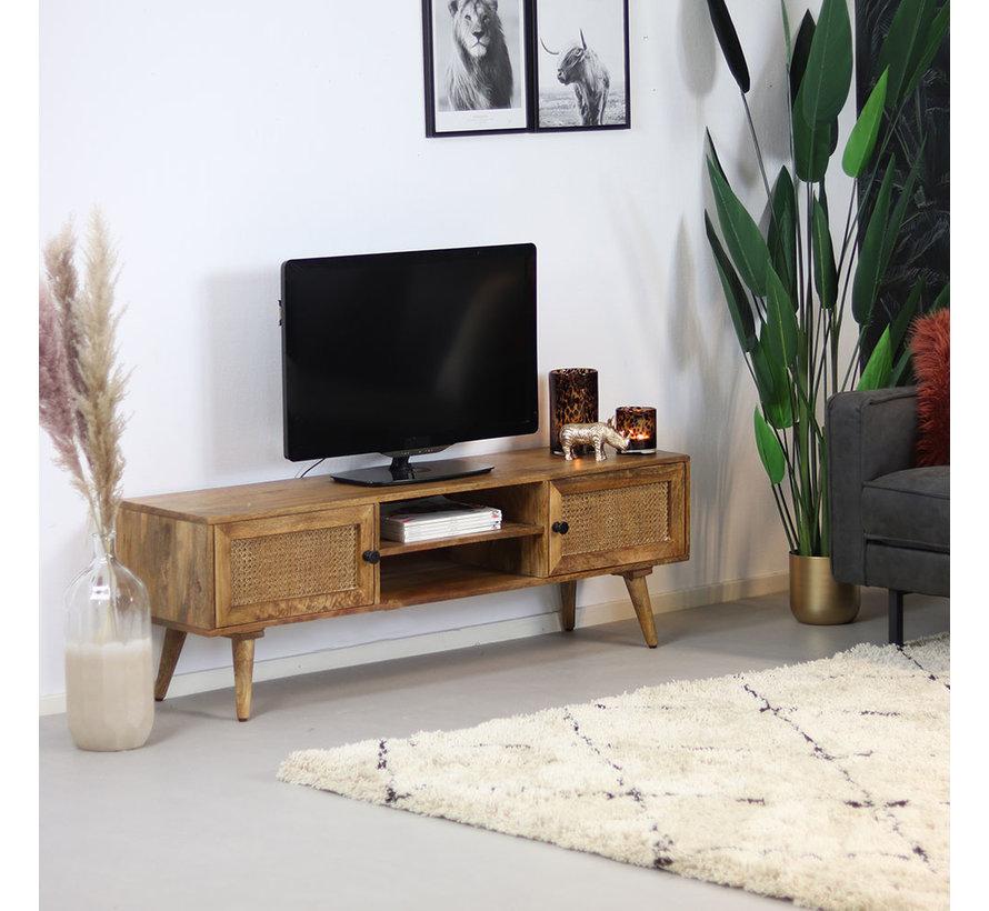 TV-Lowboard Roto Mangoholz 145 cm