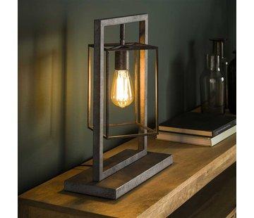 Tischlampe Santiago rechteckig altsilber