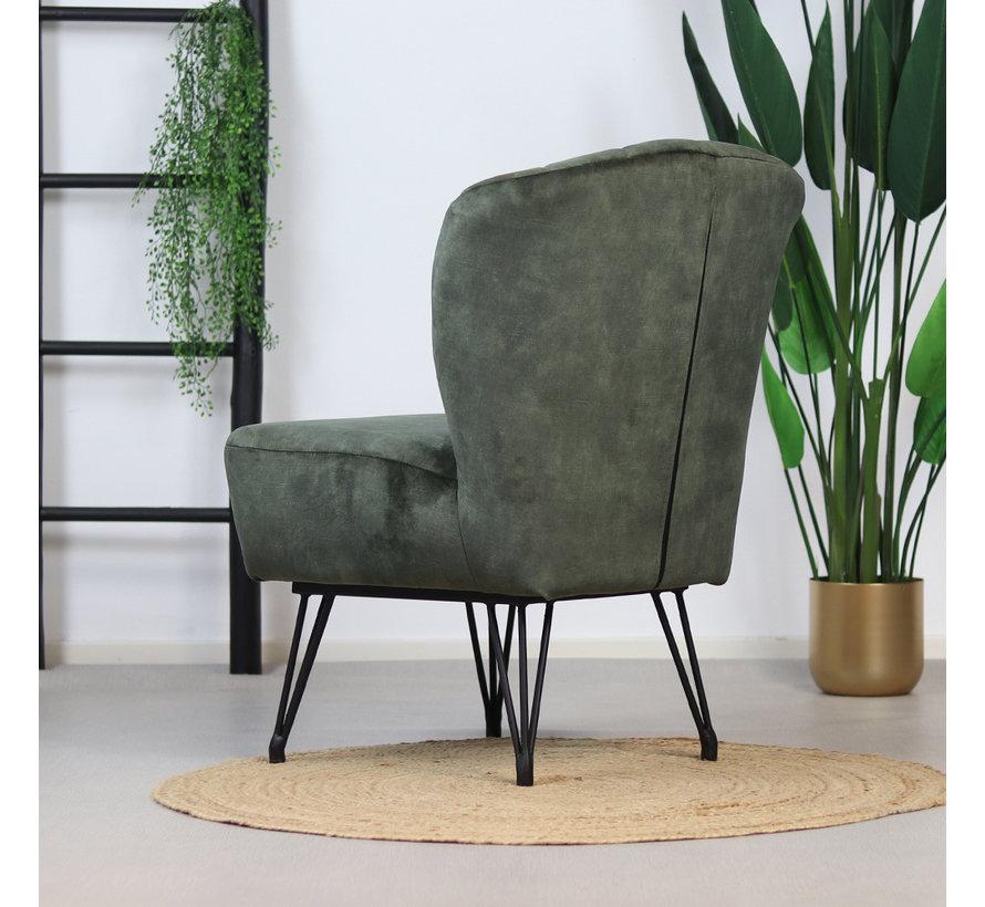 Samt Sessel Else modern grün