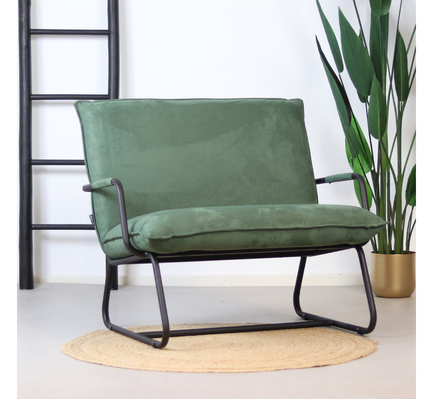 Sessel Ohio mit Armlehne Polyester grün