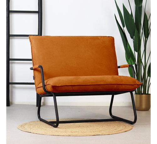 Bronx71 Sessel Ohio mit Armlehne Polyester ockergelb