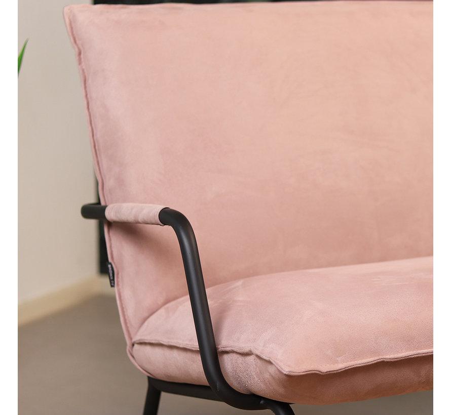 Sessel Ohio mit Armlehne Polyester rosa