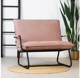 Bronx71 Sessel Ohio mit Armlehne Polyester rosa